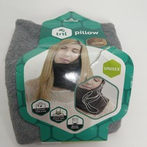 Chin Supporting Travel Pillow Gray Ergonomic Internal Support. Dark Gray - $16.00