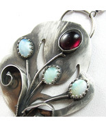 Grow With the Flow Necklace - Garnet, Opal and ... - $210.00