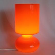 IKEA Lamp Lykta Orange Colored Glass Table Accent Retro Modern Lamp  - $46.26