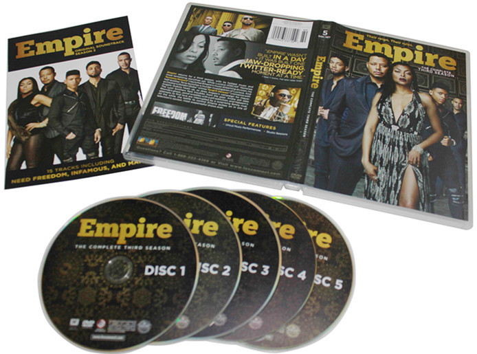 Empire The Complete Third Season 3 DVD Box Set 5 Disc Free Shipping New