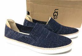 UGG Australia Sammy Metallic Navy Slip On Hyper Weave Casual Sneakers 10... - $79.99