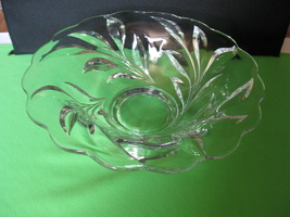 "Vintage Indiana Glass Willow No 1008 Elegant Crystal 11"" Footed Fruit Bo... - $49.99"