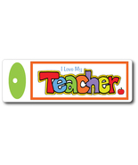 I Love My Teacher Double-Sided Hand-Lettered Handmade Bookmark - $9.75