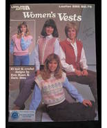 Vintage Womens Vests Knitting Crochet Patterns   - $5.99