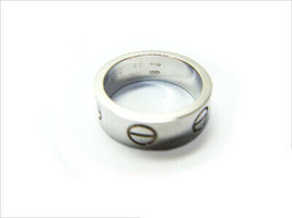Cartier Love Ring 750WG US3.5-4 Used Excellent condition women From Japan - $580.59