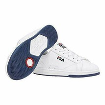 Fila Womens Reunion Leather Low Top Court Tennis Shoes (White/Navy/Red) 5CM0074 image 2