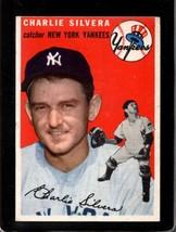 1954 Topps #96 Charlie Silvera Vg Yankees *X13407 - $6.00