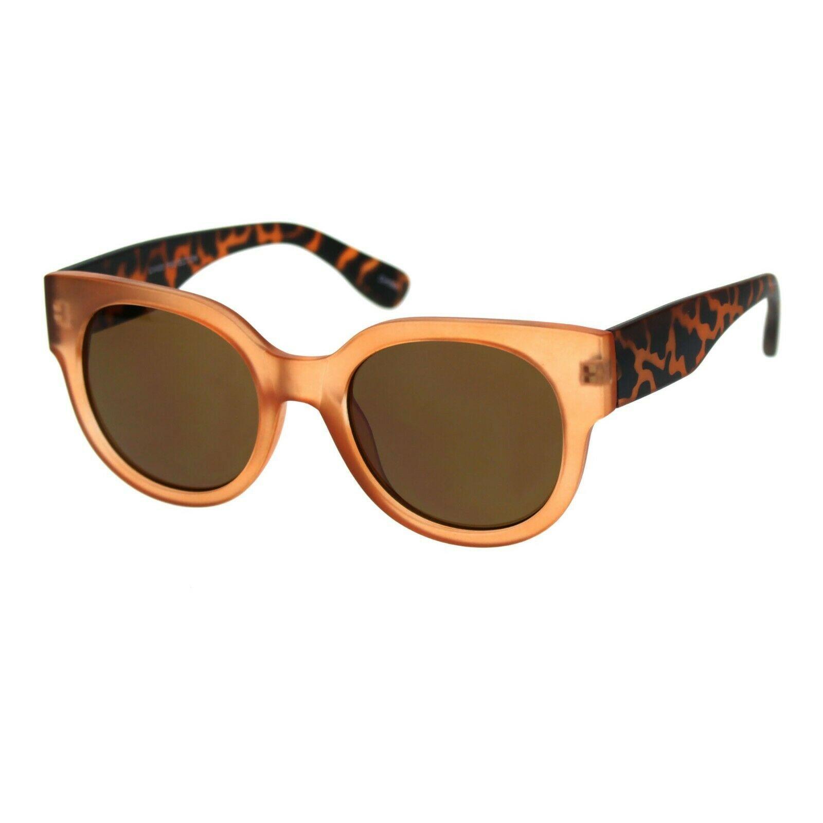 Womens Round Horn Rim Sunglasses Trendy Retro Fashion Shades UV 400 image 2