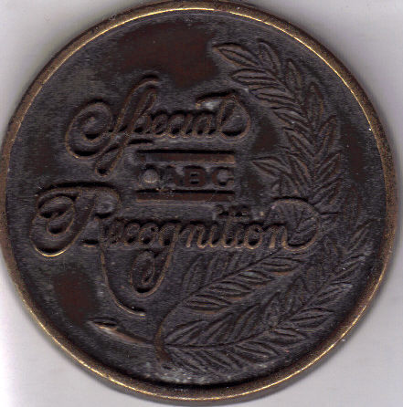 ABC SPECIAL RECOGNITION Bowling Token