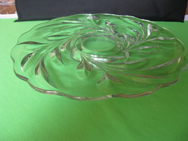 "Vintage Indiana Glass Willow No 1008 Crystal 13 1/2"" Footed Cake Plate  - $54.99"