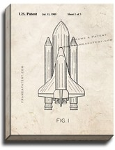 Space Shuttle Patent Print Old Look on Canvas - $69.95+