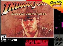 Indiana Jones Greatest Adventures SUPER NINTENDO SNES - $24.88