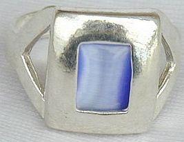 Blue cat eye ring thumb200