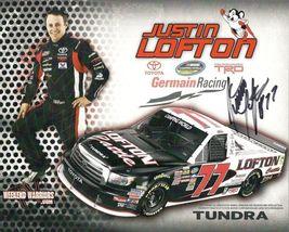 2011 JUSTIN LOFTON #77 LOFTON CATTLE POSTCARD SIGNED - $10.95
