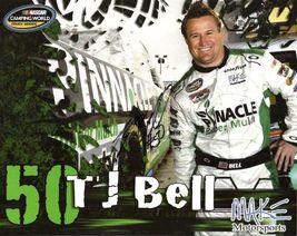 2011 TJ BELL #50 PINNACLE NASCAR CWTS POSTCARD SIGNED - $10.95