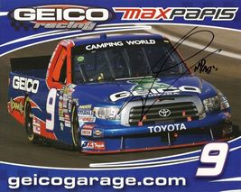 2011 MAX PAPIS #9 GEICO NASCAR CWTS POSTCARD SIGNED - $10.95