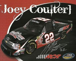 2011 JOEY COULTER #22 RCR NASCAR CWTS POSTCARD SIGNED - $10.95