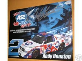 2004 ANDY HOUSTON #2 TEAM ASE NASCAR CRAFTSMAN TRUCK SERIES POSTCARD SIGNED - $10.75