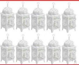 WEDDINGS!!! 10 White Scrollwork Candle Lanterns Centerpieces - $99.95