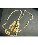Goldtone Necklace With Chunky Pendant on 30 inch chain - $55.00
