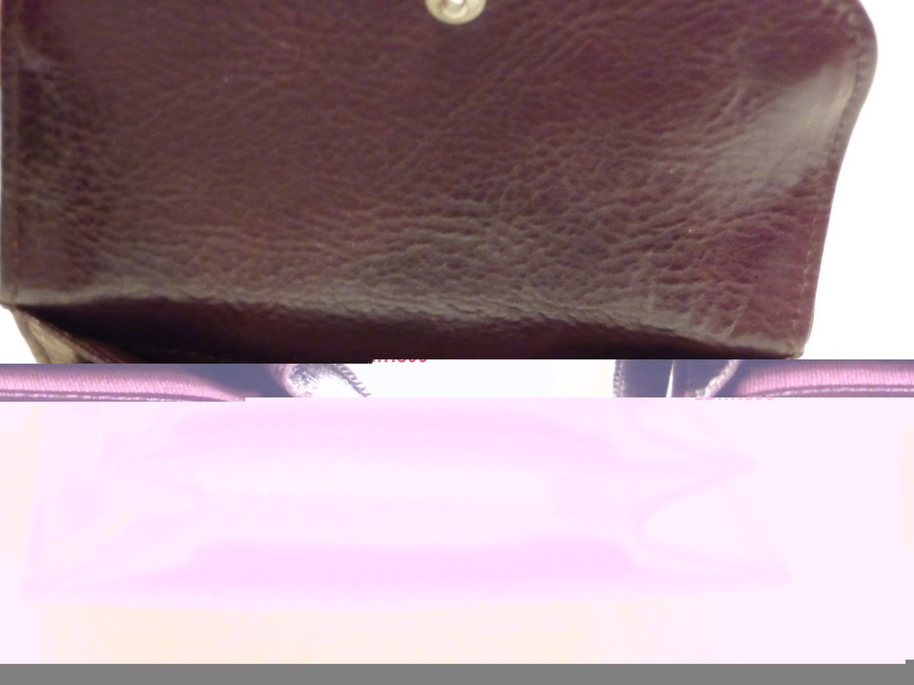 Cole Haan Leather French Wallet Raisin Color NWT