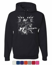 Cats Rock Concert Hoodie Rock & Roll Cat Lover Kitten Music Sweatshirt - $22.63+