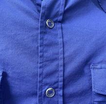 Men's Pearl Snap Button Western Slim Fit Stretch Cowboy Dress Shirt w/ Defect M image 4