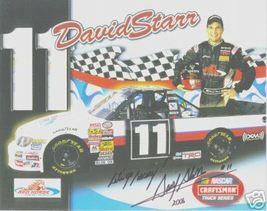 2006 DAVID STARR #11 RED HORSE RACING POSTCARD SIGNED - $11.75