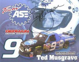 2006 TED MUSGRAVE #9 TEAM ASE NASCAR POSTCARD SIGNED - $10.75