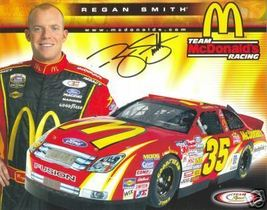 2006 REGAN SMITH #35 McDONALD'S NASCAR POSTCARD SIGNED - $10.75