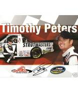 2009 TIMOTHY PETERS #17 STRUTMASTERS CWTS NASCAR POSTCARD SIGNED - $10.75