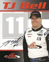 2009 TJ BELL #11 RED HORSE RACING CWTS NASCAR POSTCARD SIGNED - $10.75