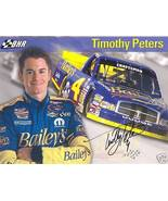 2005 TIMOTHY PETERS #4 BAILEY'S NASCAR CRAFTSMAN TRUCK SERIES POSTCARD S... - $10.75