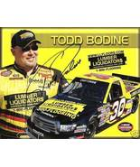 2008 TODD BODINE #30 LUMBER LIQUIDATORS NASCAR POSTCARD SIGNED - $10.75