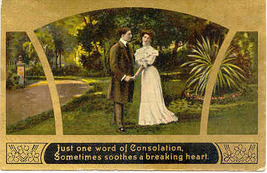 Sooth A Breaking Heart Vintage 1910 Post Card - $5.00
