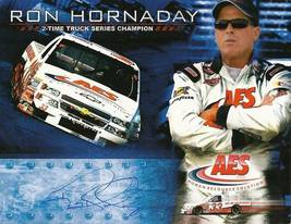 2006 RON HORNADAY #33 AES CTS NASCAR POSTCARD SIGNED - $10.99