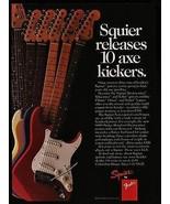 1987 Guitar Ad Fender Squier Guitars Stratocaster Telecaster J-Bass Series - $14.99