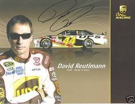 2008 DAVID REUTIMANN #44 UPS NASCAR POSTCARD SIGNED - $10.75