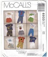 McCalls 6933 Applique T-Shirt Pants Shorts Child sz 2-4 - $6.99