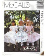 McCall's Pattern 7490 Easter Special Occaision Dress Girls sz 6 Uncut - $7.49