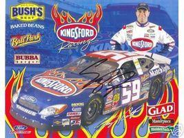 2005 STACY COMPTON #59 KINGSFORD NASCAR POSTCARD SIGNED - $10.75