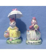 Avon 2 Bunny Figurines Rain or Shine and Avon Day - $9.99