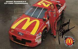 1993 JIMMY SPENCER #27 McDONALDS NASCAR POSTCARD SIGNED - $10.95