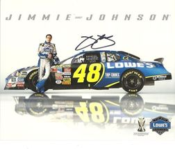 2007 JIMMIE JOHNSON #48 LOWE'S NASCAR POSTCARD SIGNED - $19.75