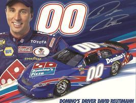 2007 DAVID REUTIMANN #00 DOMINO'S POSTCARD SIGNED - $10.75