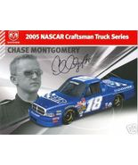 2005 CHASE MONTGOMERY #18 BHR TRUCK SERIES NASCAR POSTCARD SIGNED - $10.75