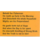 Behold The Fisherman Vintage Comic Post Card - $6.00