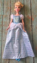 Disney Princess Cinderella Fairytale Barbie Doll 2005 Mattel Sparkly Dre... - $14.84
