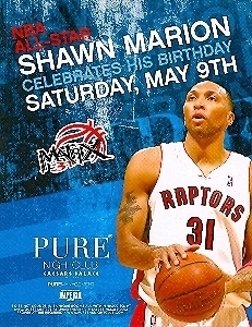 Primary image for Shawn Marion Birthday Celebration @ PURE Nightclub Vegas Promo Card
