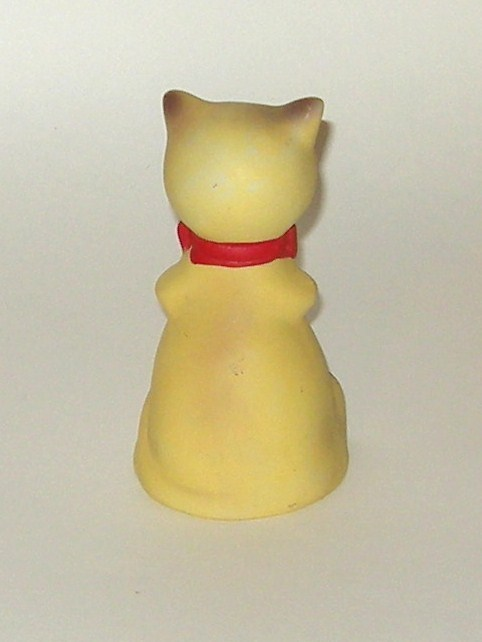 Hand Painted Ceramic Matte Finish Kitten Siamese Cat Bell